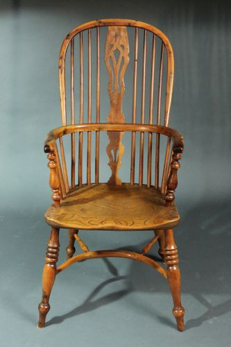 Pair of Yew Wood Windsor Chairs