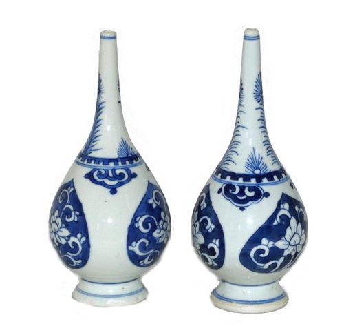Kangxi early 18th century Pair of Rosewater Sprinklers