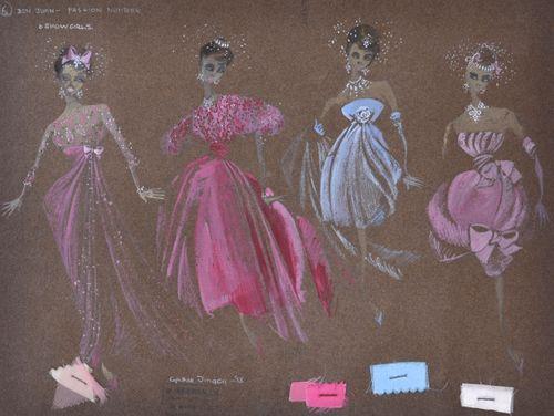 Cynthia Tingey - Costume Design - gouache