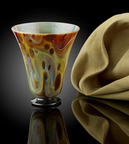 A Chalcedony Glass Beaker, with Aventurine Inclusions; Venice, 17th century