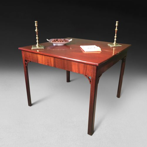George III mahogany turnover top tea table