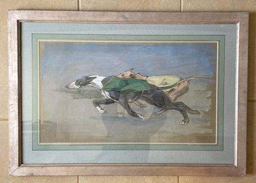 George Denholm Armour - Greyhounds - watercolour