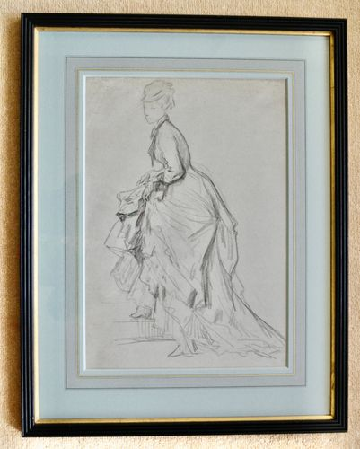 19th Century French School - Showing and Ankle - drawing