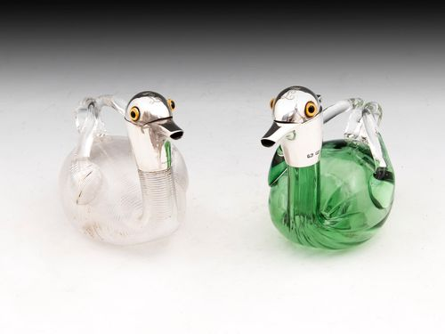 Antique Duck Liqueur Decanters