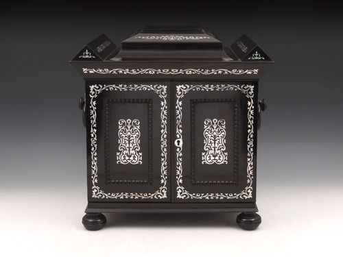 Ebony Sewing Jewellery Writing Cabinet