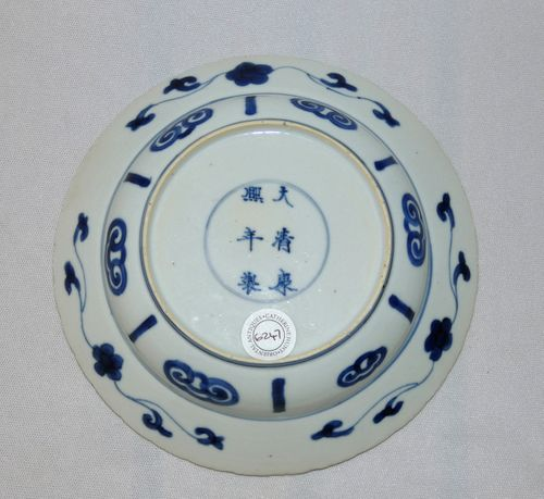 Chinese kangxi Mark and Period Klapmutts plate