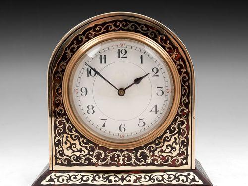 English Boulle Mantel Clock