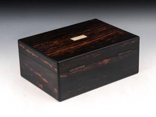 Antique Coromandel Sewing Box by Lund
