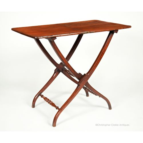Folding Mahogany Coaching Table