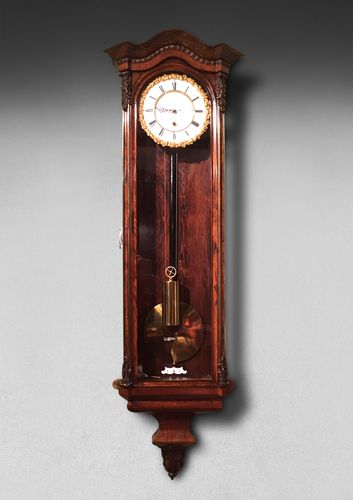9th. Century Rosewood Viennese Regulator Clock - Adolf Hradetzkn
