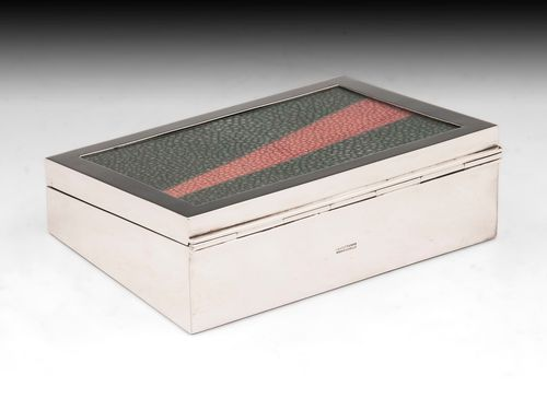 Glazed Shagreen Cigar Box