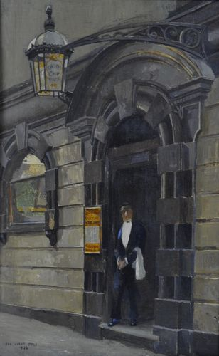 Rex Vicat Cole - The George & Vulture - oil on board