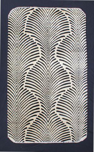 "Art Deco ""Zebra"" Rug"