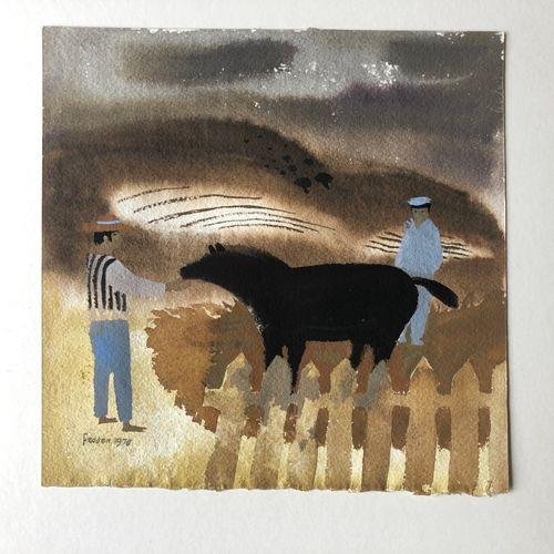 Mary Fedden (1915-2012) Men and Horse