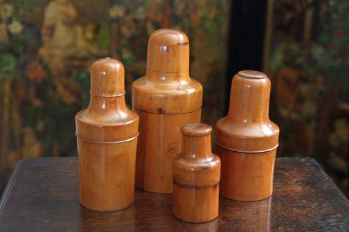 Victorian Treen Boxwood Bottle Holder