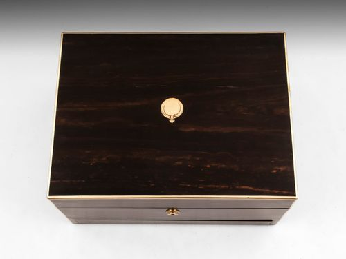 Coromandel and Brass Jewellery Box by Fisher
