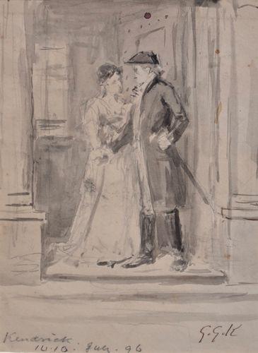 George Goodwin Kilburne - The Parting - watercolour