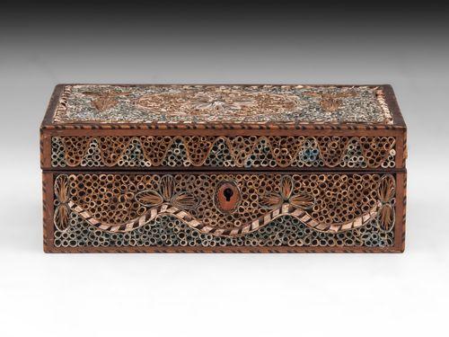 Paper Scroll Sewing Box