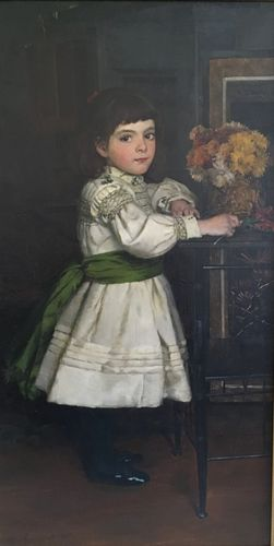 William Hippon Gadsby - Girl in an Aesthetic Interior - oil on canvas
