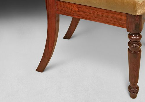 Pair of George IV Rosewood Sidechairs by Gillows