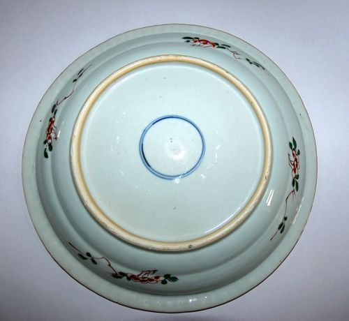 Chinese famille Verte 18th century deep Charger