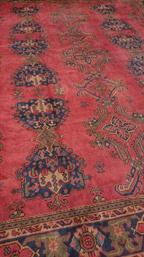 Antique Turkish Ushak Carpet