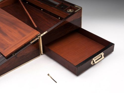 Antique Writing Box with top secret compartments by Turrill
