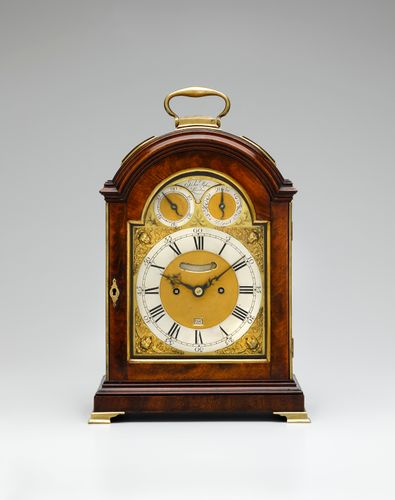 A George III mahogany bracket clock.