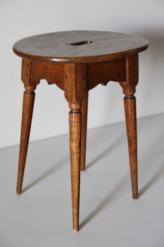 19th Century Oval Topped Stool