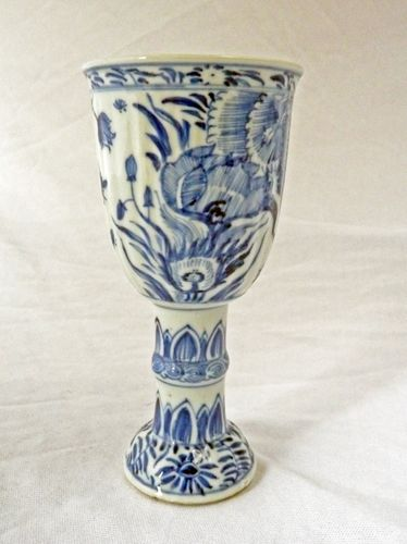 Kangxi blue and white porcelain antique goblet