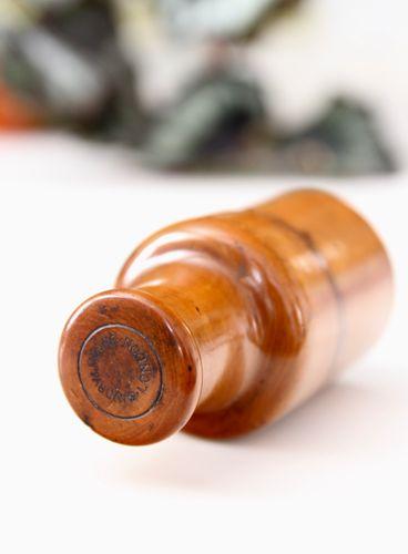 Small Treen Boxwood Bottle Holder