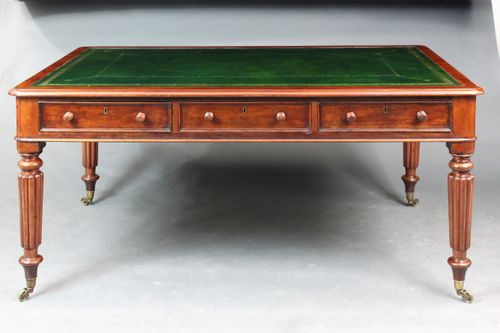 Large Mahogany Writing Table