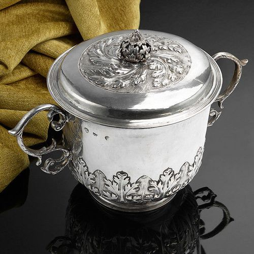 A Large and impressive Charles II Caudle Cup with cover