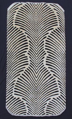 """Art Deco Rug with a """"Zebra"""" Design"""