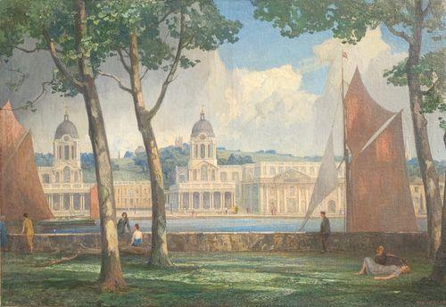Rex Vicat Cole - Greenwich - oil on canvas