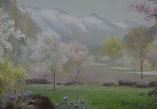 Edward Clifford - Kashmir Blossoming - watercolour