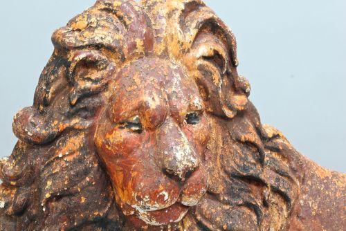 19th Century Cast Iron Lion