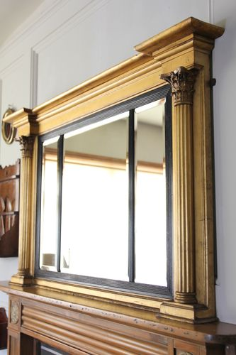 Early 19th Century Gilt Landscape Wall Mirror