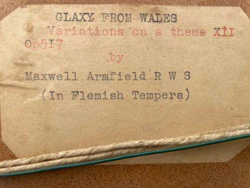 Maxwell Armfield - Glaxy in Wales - tempera