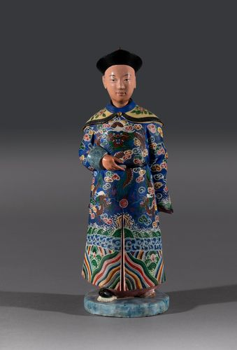 Single Early 19th Century Hand Painted Chinese Nodding Figure
