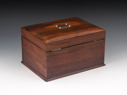 Glazed Walnut Jewellery Box