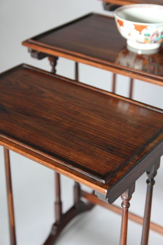 Regency Rosewood Nest of Tables