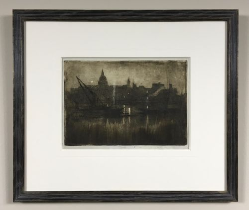 Joseph Pennell - St Paul's from the River, 1894 - aquatint
