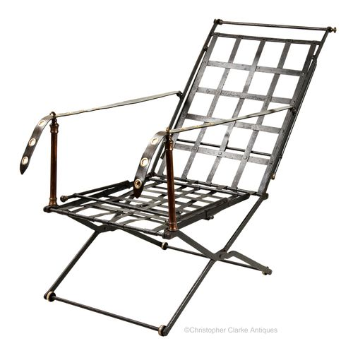 Folding Portable Iron Duoro Chair Bed