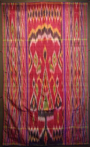 Antique Persian Yazd Silk Ikat