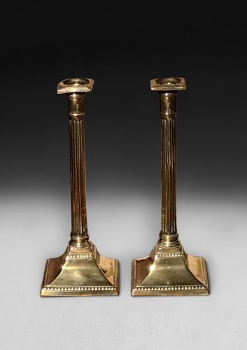 Pair of Regency Brass Candlesticks