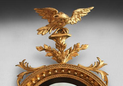 Regency Convex Gilt Mirror