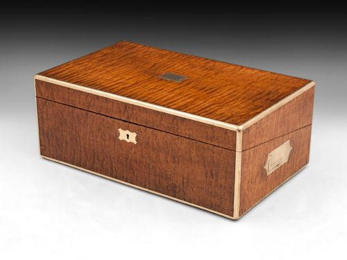 Antique Maple Writing Box