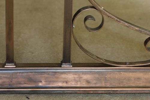 Late 19th Century Copper & Leather Club Fender