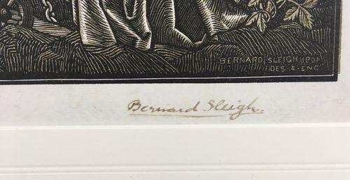 Bernard Sleigh - Piers Plowman - woodcut